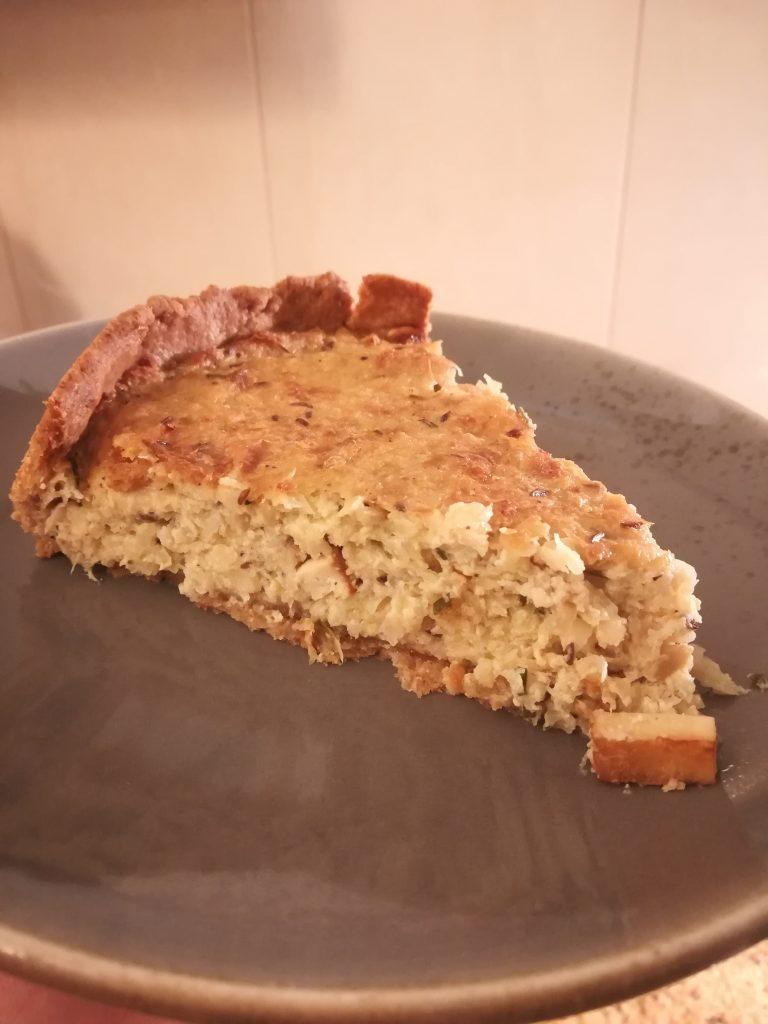 Weißkohl Weißkraut Quiche Krautkuchen Mürbeteig lecker deftig Tofu Kraut kuchen Kohl Quiche